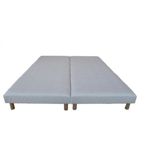 lot de 2 sommiers tapissier 90x200 matelas point re. Black Bedroom Furniture Sets. Home Design Ideas